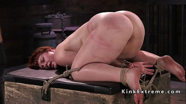 Caning, Redhead, Hogtied, Caned, Fat redhead, Fat ass