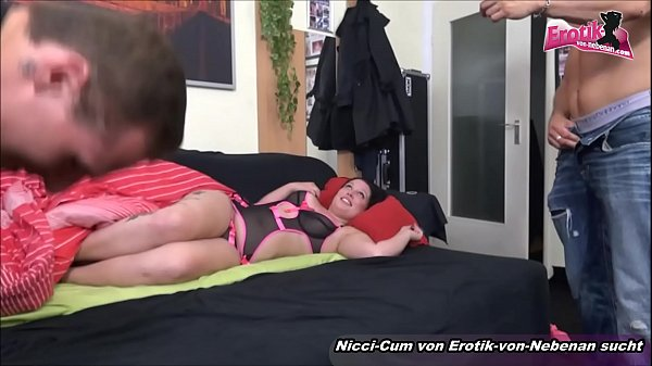 German bbw, Private, Amateur threesome