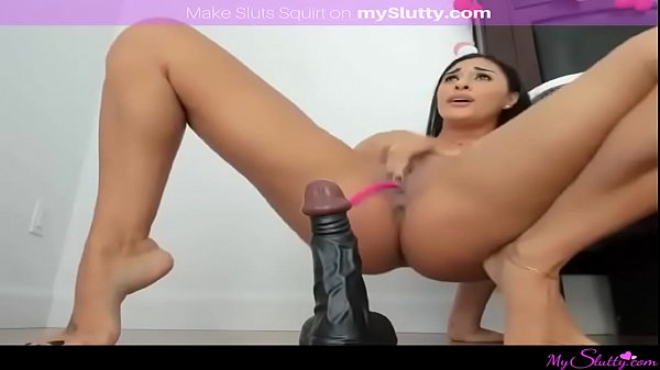 Busty dildo ride, Master, Squirt master